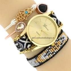 Hamsa Hand Armband Wit Goud Armcandy