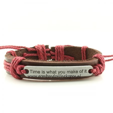 Time is what you make of it armband bordeauxrood