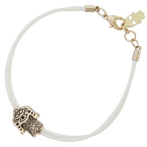 Hamsa Hand van Fatima Armband Wit