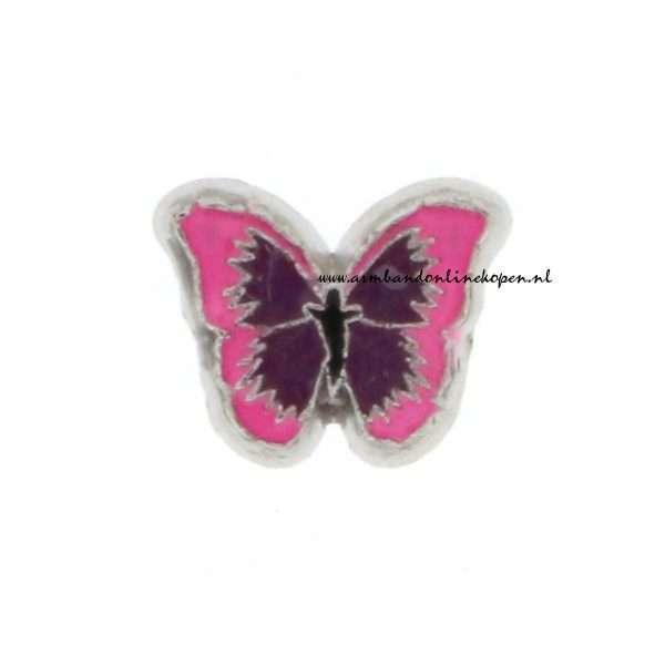My Lucky Charm Vlinder Bedel roze