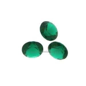 Steen voor munt hanger of armband emerald