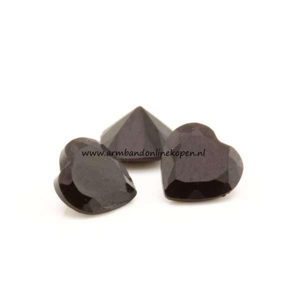 my lucky charm hartjes steen zwart