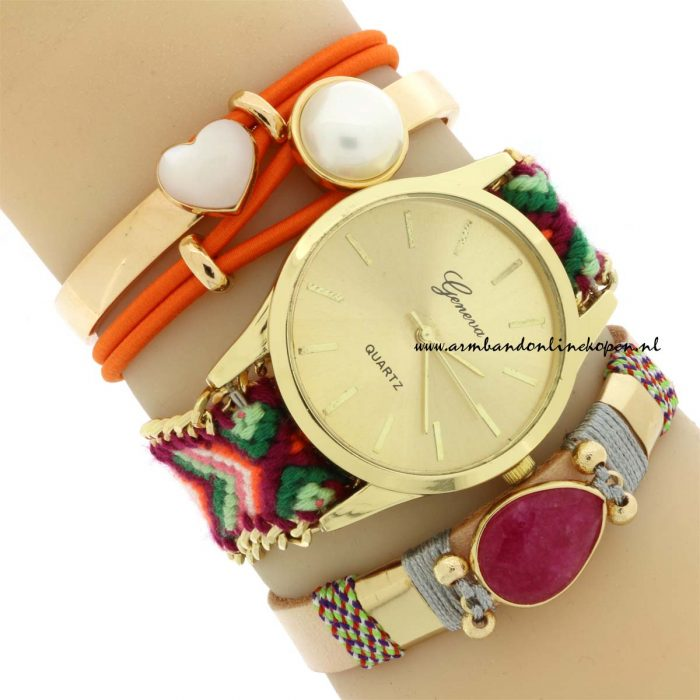 trendy armcandy leren armband gemstone
