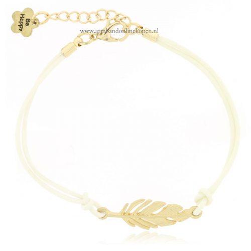 armband veer goud wit goedkoop kopen