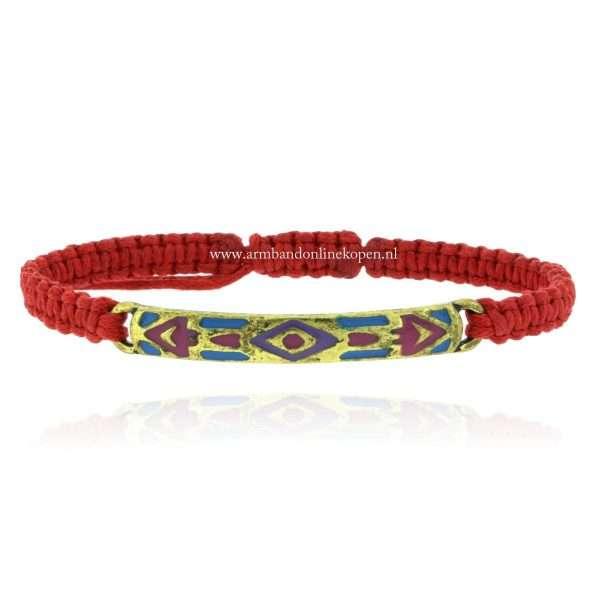 aztec armband geknoopte rode koord