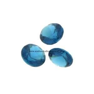 Steen voor munt hanger of armband petrol blauw