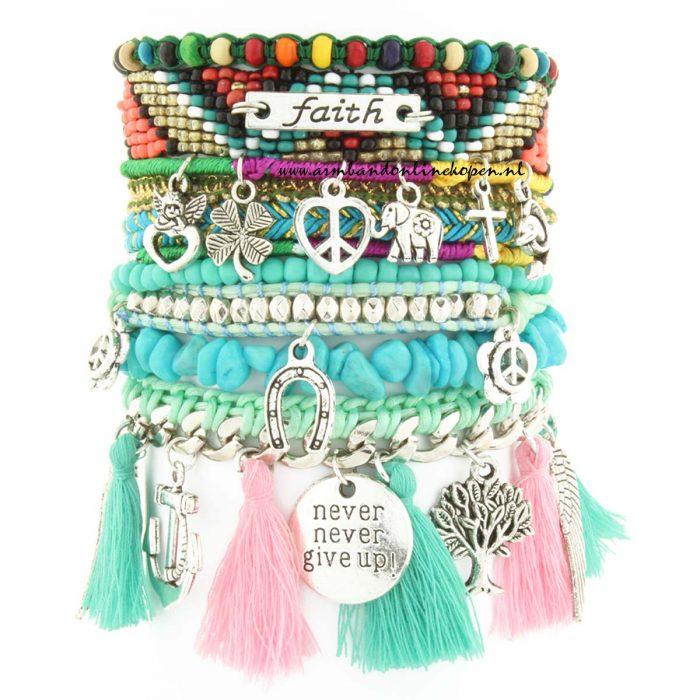 ibiza armband keep the faith pastel tinten