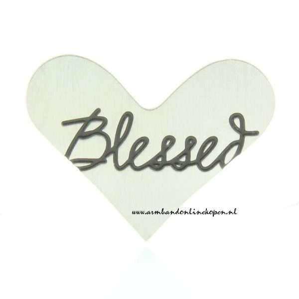blessed hart munt voor hanger