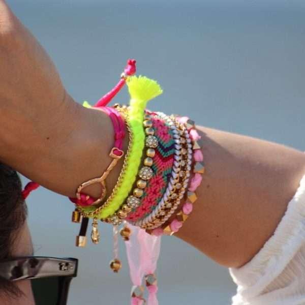 geknoopte kralen armbandjes festival armcandy