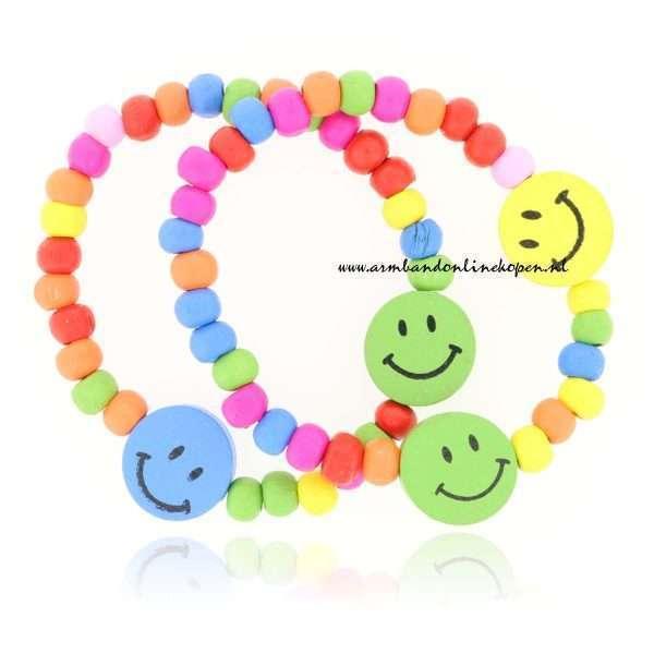 Set Kinderarmbanden smileys
