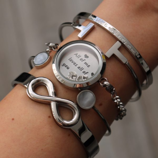 armband met quote munt all of me loves all of you