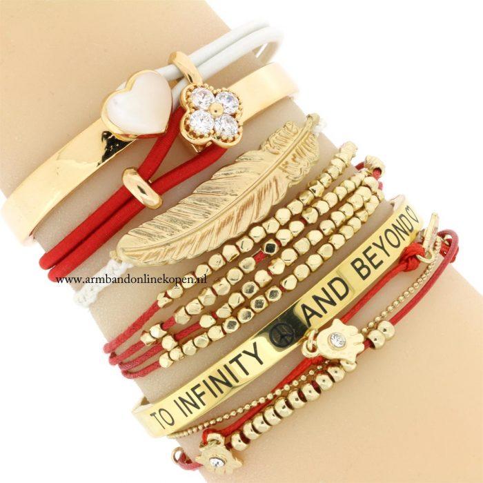 armbandje hamsa hand goud kraaltjes
