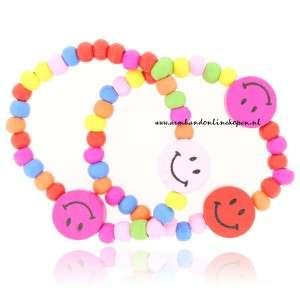 kinder armbanden set met smileys