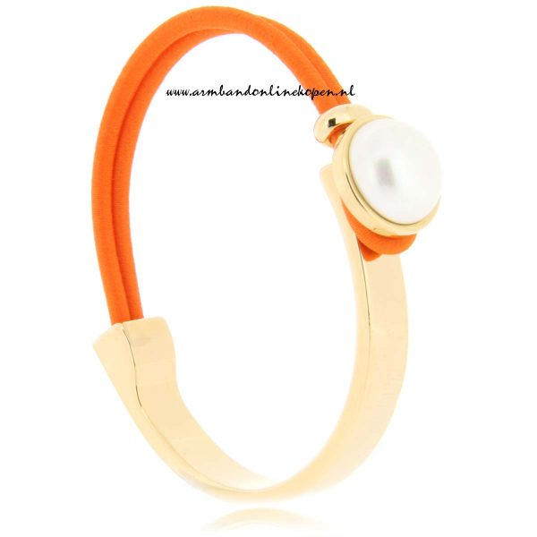 mix en match armband tahitian freshwater orange