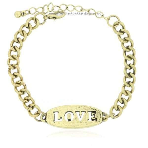 love armband brons kleurig