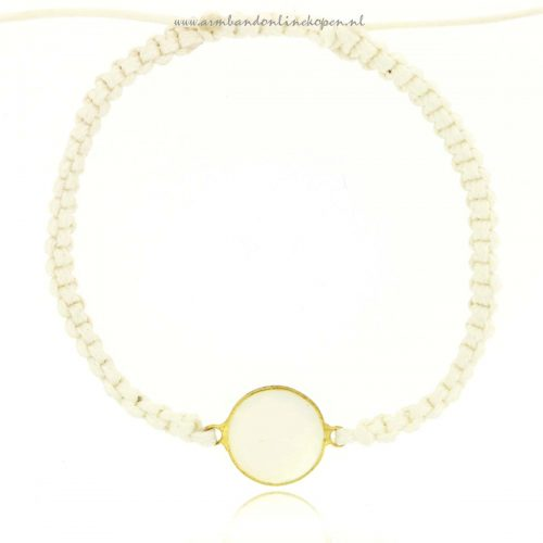mix en match armbandje gold gem opalite