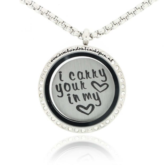 ketting met munt I carry your heart in my heart
