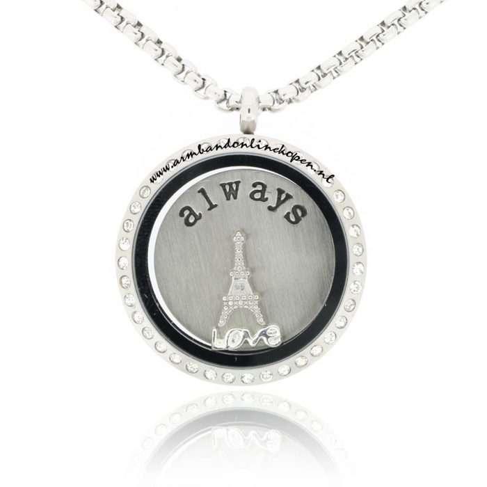 munt ketting I will always love Paris
