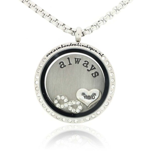 munt ketting I will always love you