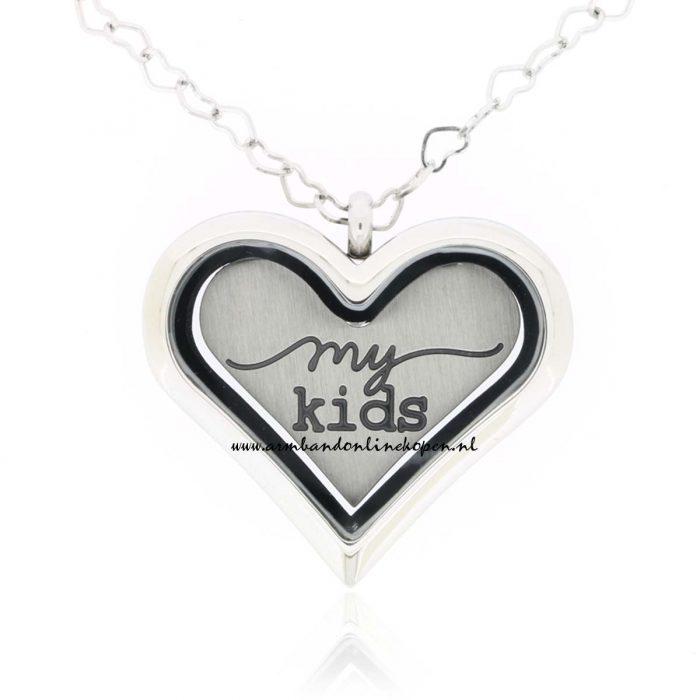 muntkeeting hart vorm met munt love my kids