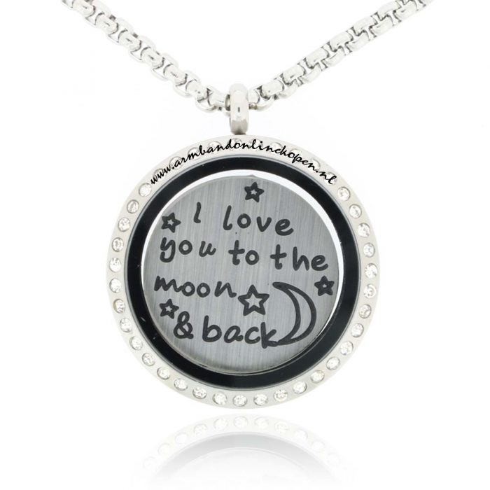 muntketting I love you to the moon en back munt