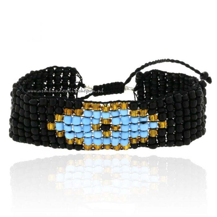Boze Oog Glaskralen Armband