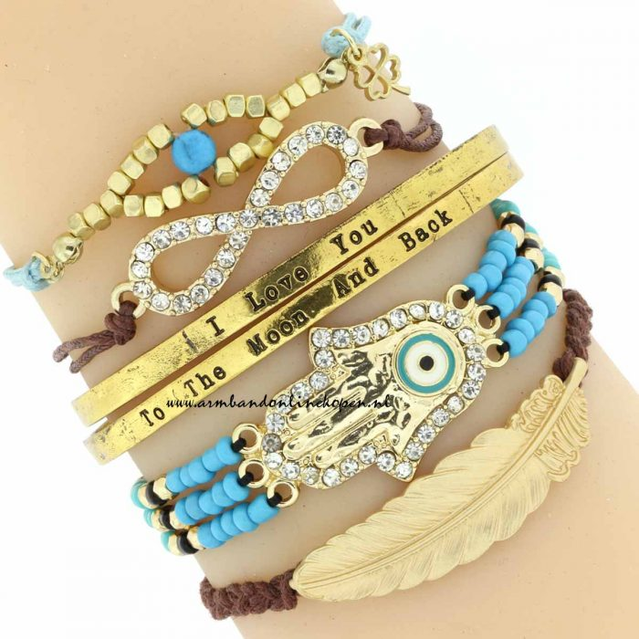 I love you to the moon and back bangles armbanden