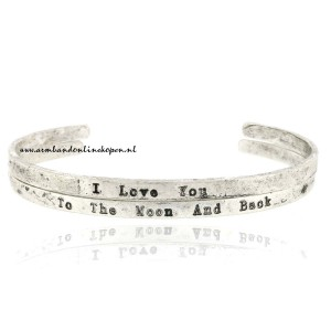 I love you to the moon and back bangles set