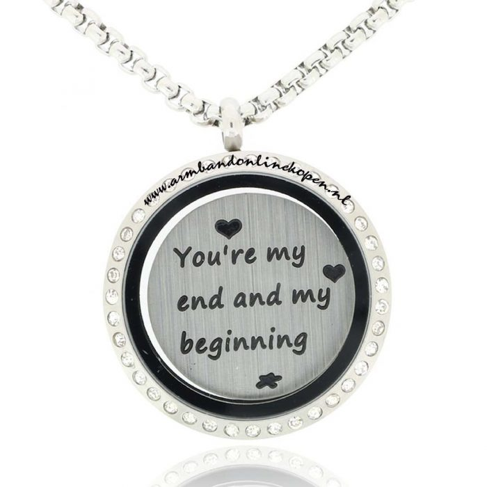 Jasseron schakels muntketting en munt you are my end and my beginning