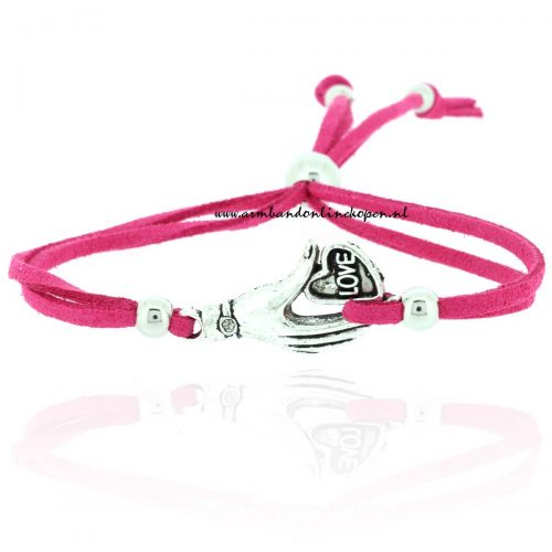 hippe armbandje 2015 I give you my love magenta