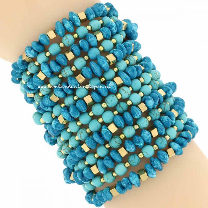 statement armband aqua mint turquoise
