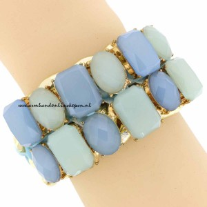 statement armband hemelsblauw