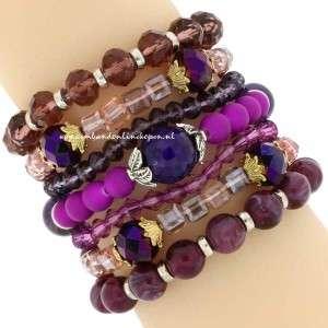 statement armband paarse tinten kopen