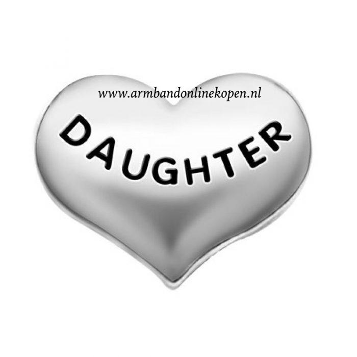 love my daughter bedel zilver my lucky charm collectie