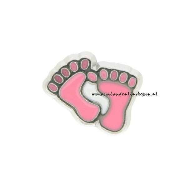 my lucky charm bedel meisjes voetjes roze