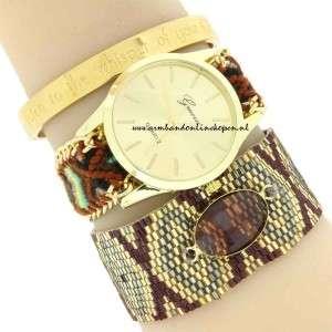 Boho Ibiza Horloge armcandy miyuki armband