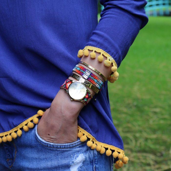 ibiza armbandjes horloge love quote bangles