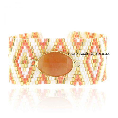 japanse miyuki armbanden met koraal steen