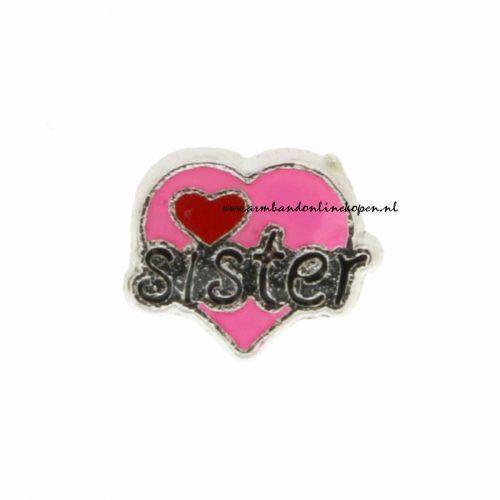 liefde voor mij zusje bedel voor munt armband of munt ketting