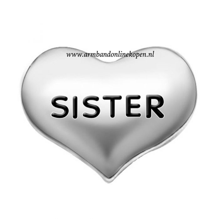 love my sister bedel zilver my lucky charm collectie