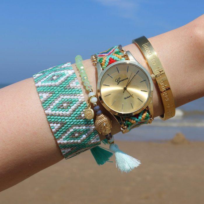 miyuki kralen armbandjes boho ibiza horloge