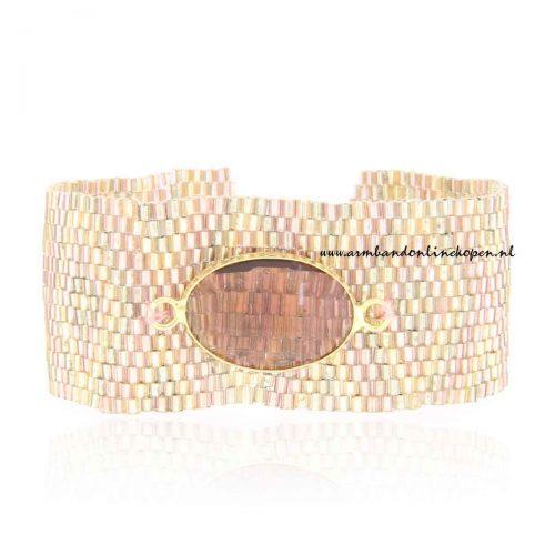 trendy miyuki armband met steen