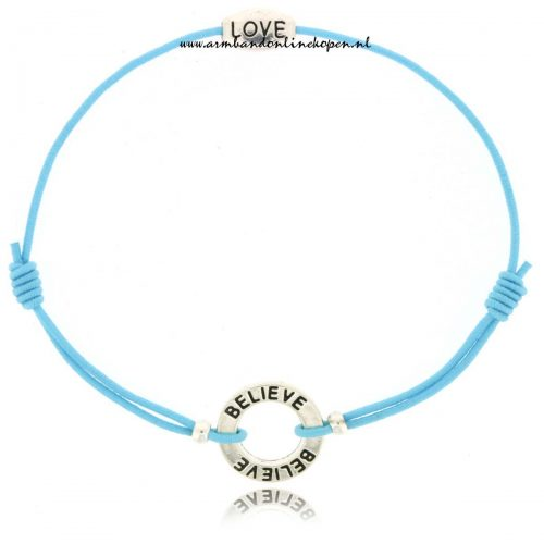 Believe Love Elastiek Armband