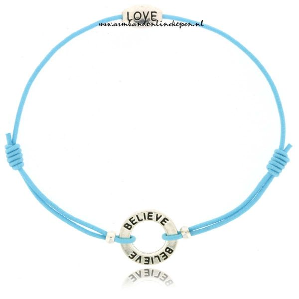 Believe Love Elastiek Armband