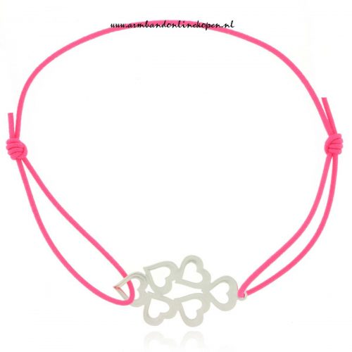 Stainless Steel Silver Hearts Bracelet
