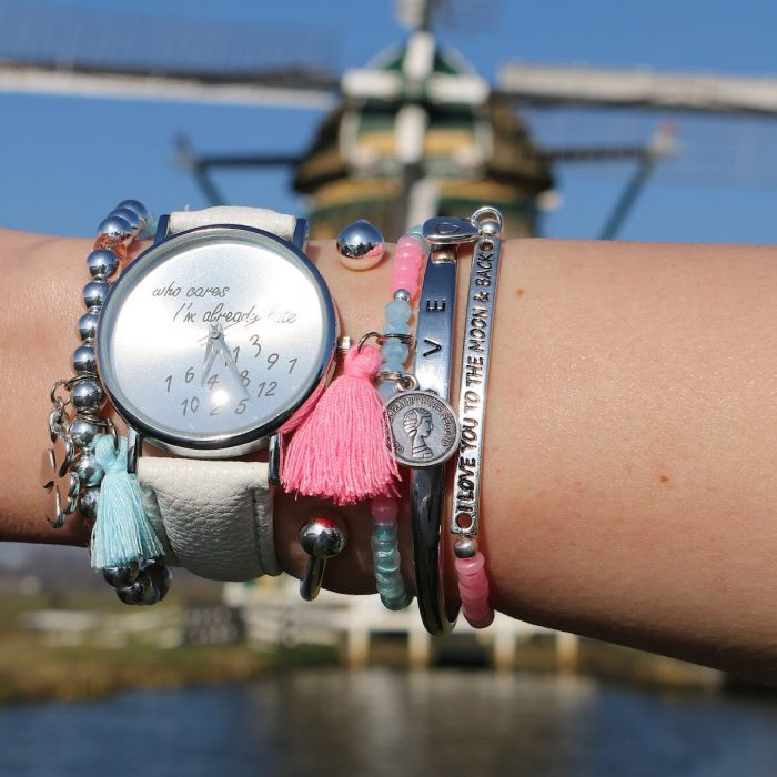 arm candy zilver tinten mix en match horloge
