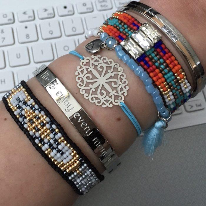 armcandy armbandjes goedkoop kopen Stainless Steel Fantasy Flower