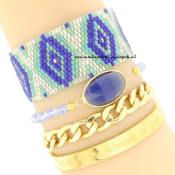 hippe armcandy miyuki kraaltjes blauwe tinten