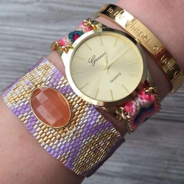 japanse armbanden armcandy mix en match boho ibiza horloge