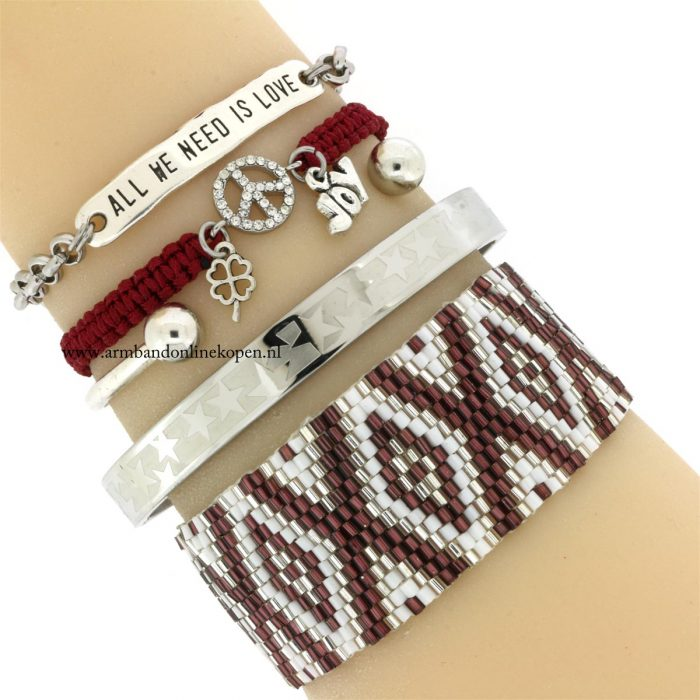 quote armband all we need is love